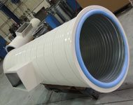 white dw coated duct