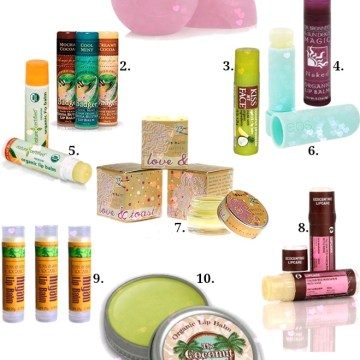 Beauty Essentials: 10 organic and natural lip balms for smooth silky kissable lips