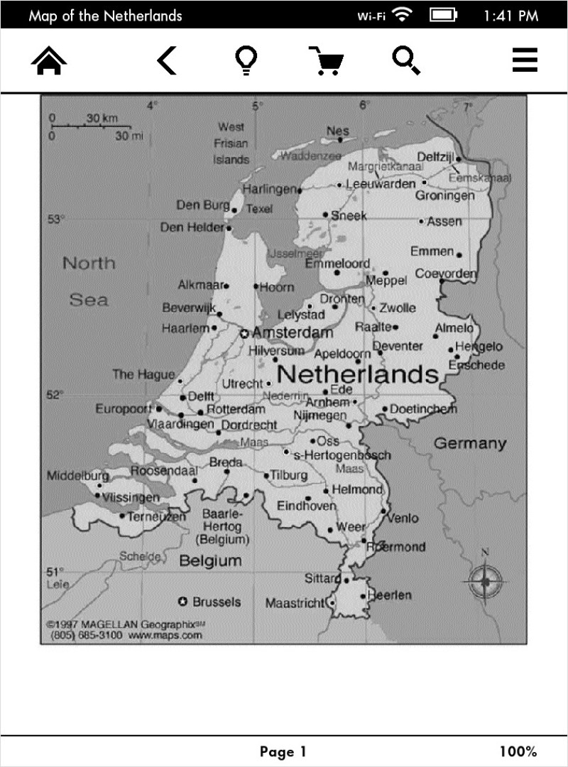 Send to Kindle Map of the Netherlands