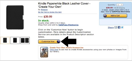 How to personalize Kindle covers and skins using Create Your Own