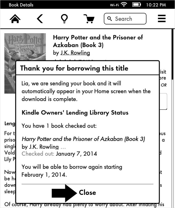 Kindle Owner Lending Library Status