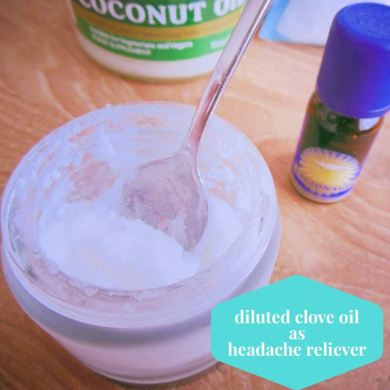 How to dilute clove oil with sea salt and coconut oil for relieving headaches