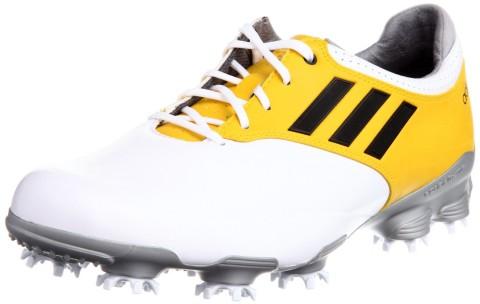 Adidas Men's Adizero Tour Golf Shoe White/Yellow