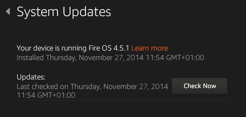 How to automatically download and install software updates on your Kindle Fire - Last Checked