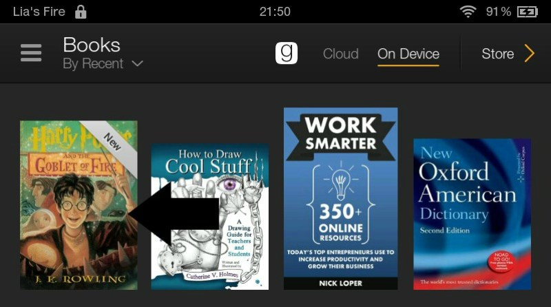 How to borrow ebooks from Kindle Owners' Lending Library on your Kindle Fire - ebook on device