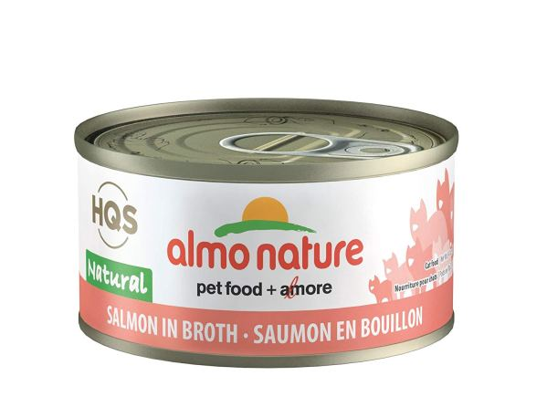 Almo Nature HQS Natural Salmon Grain-Free Canned Cat Food 2.47 oz - Pack of 24