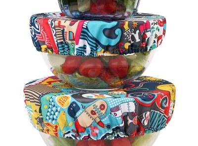 Wegreeco Reusable Fabric Bowl Covers - Set of 3