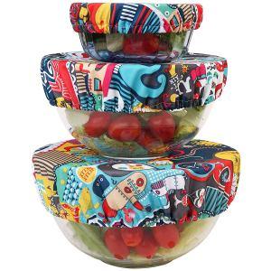 Wegreeco Reusable Fabric Bowl Covers - Set of 3