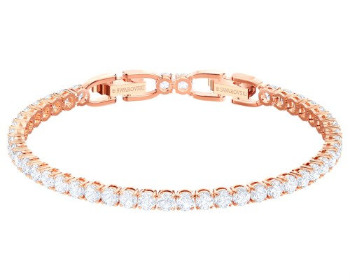 Swarovski Women's Tennis Deluxe bracelet, Rose Gold Finish
