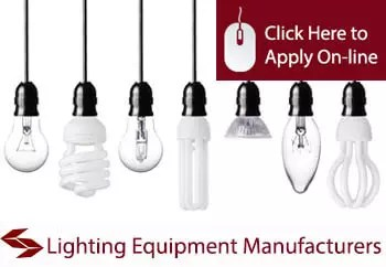 lighting equipment manufacturers public liability insurance