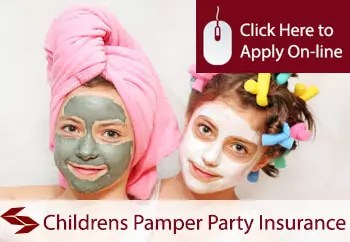 childrens pamper parties organisers public liability insurance