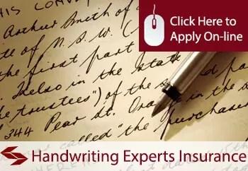 handwriting experts public liability insurance