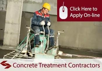 concrete treatment contractors liability insurance