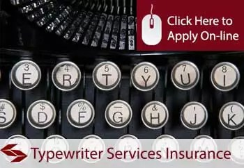 typewriter services liability insurance