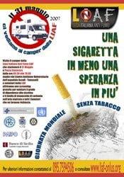 31 maggio 2007: Giornata mondiale senza tabacco con LIAF