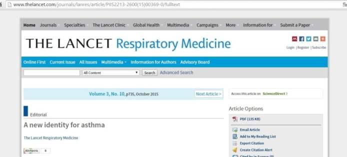 asma lancet