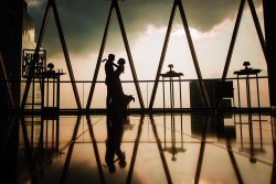silhouette by London Gherkin Wedding Photographer her