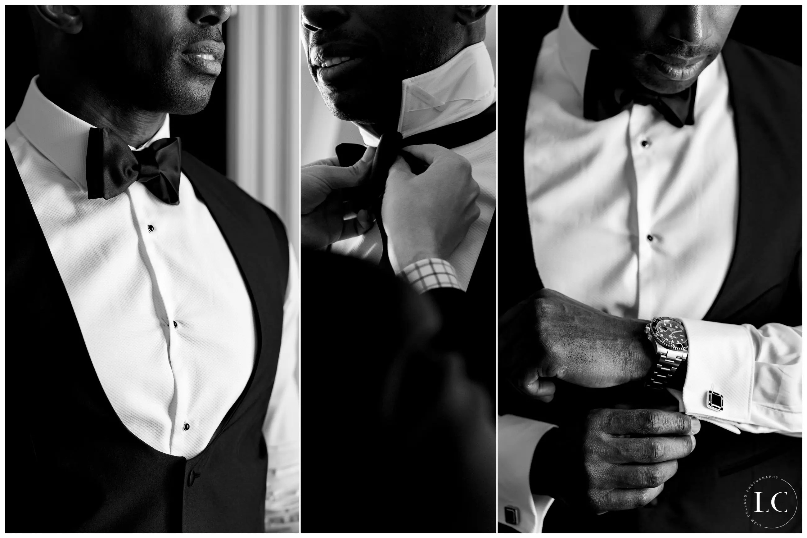 Collage of groom