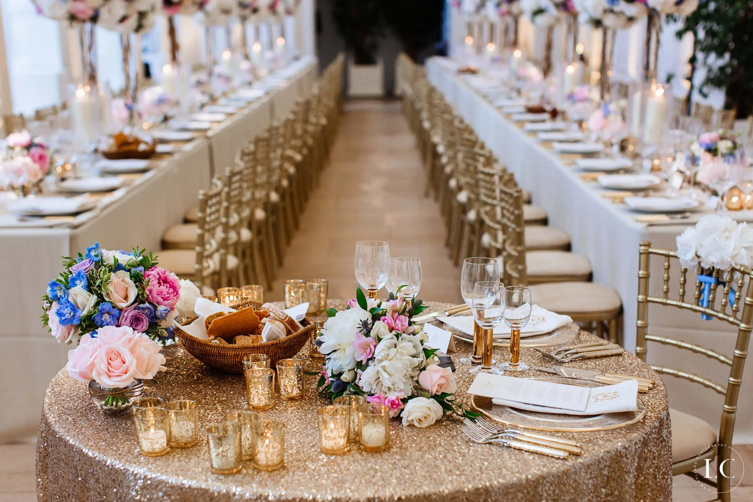 Flower and table arrangement