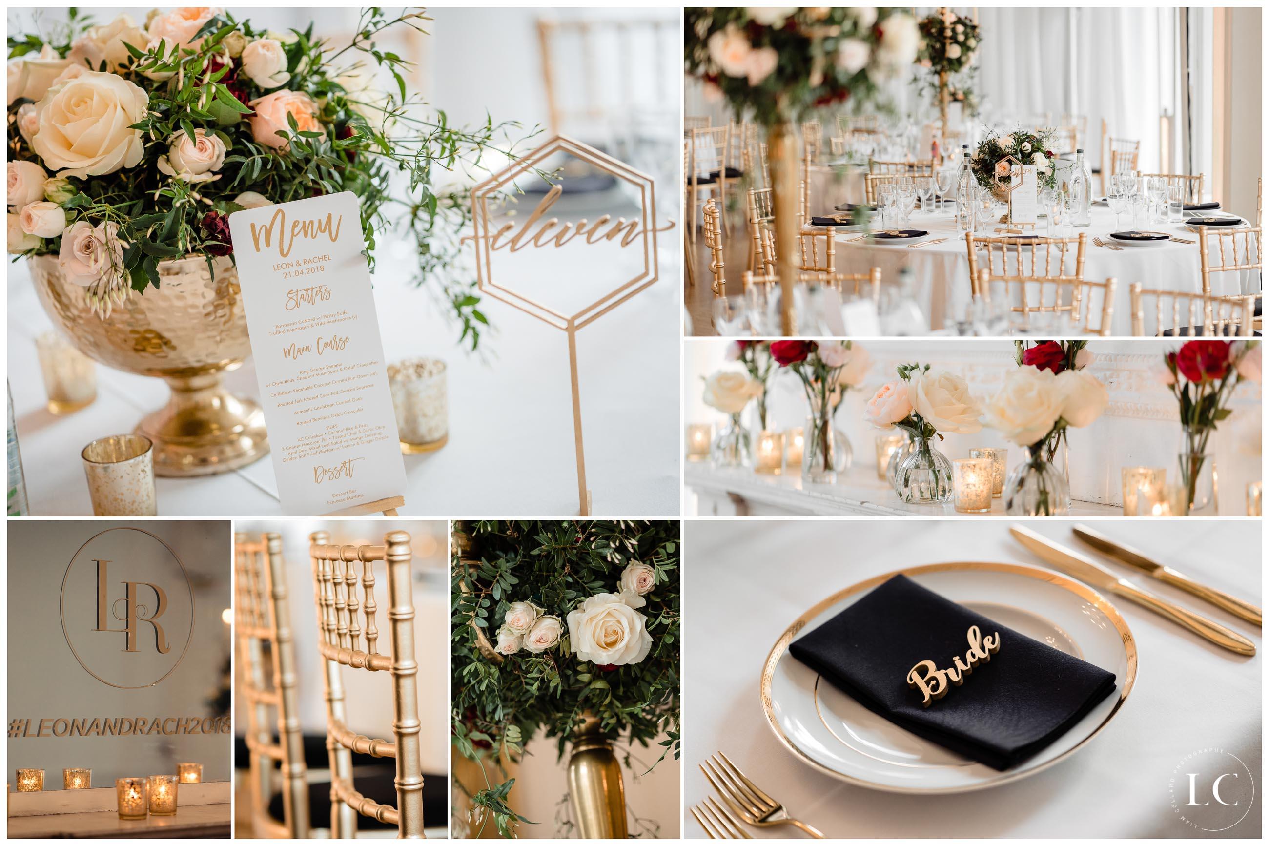 Collage of wedding arrangements