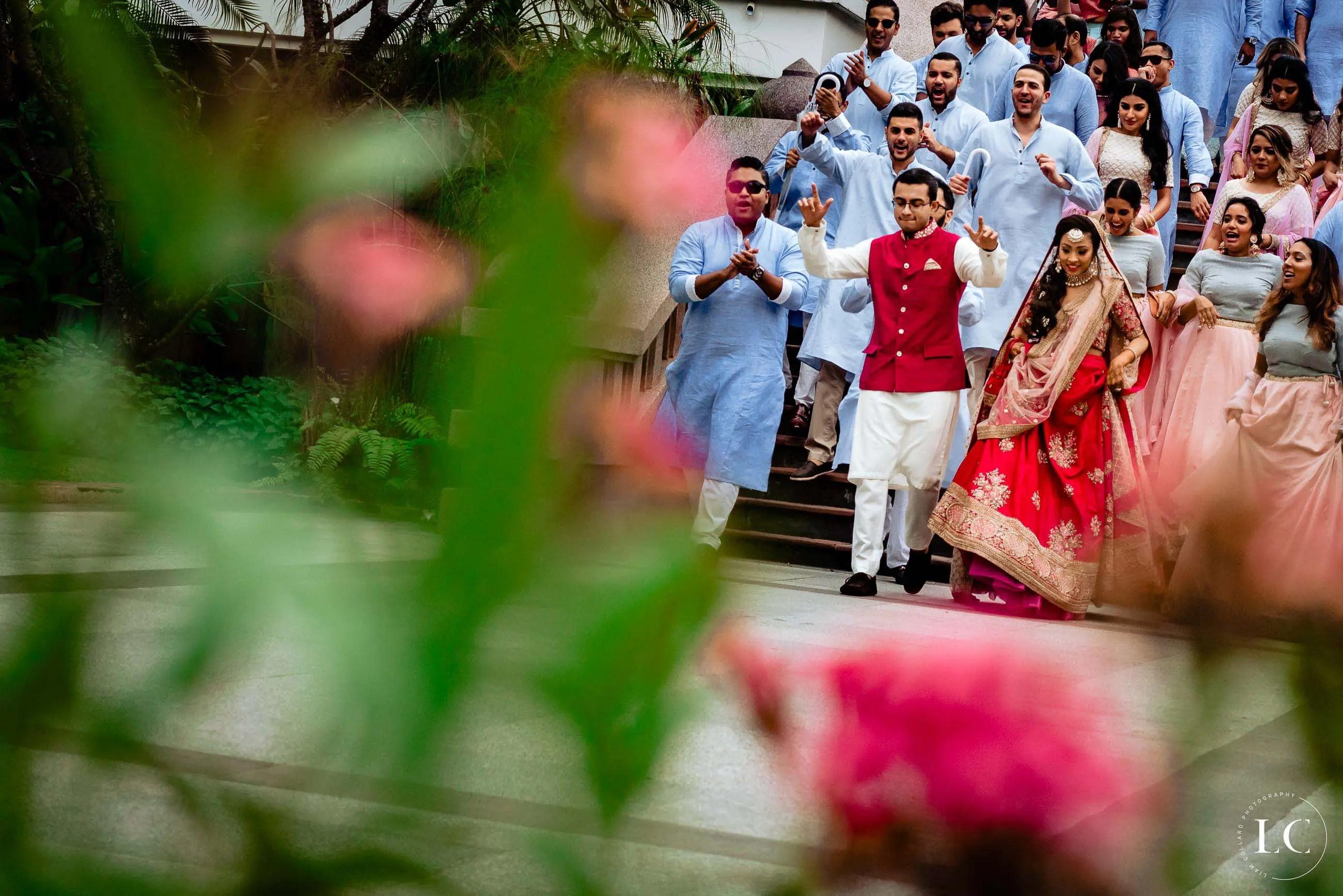 Indian wedding walking