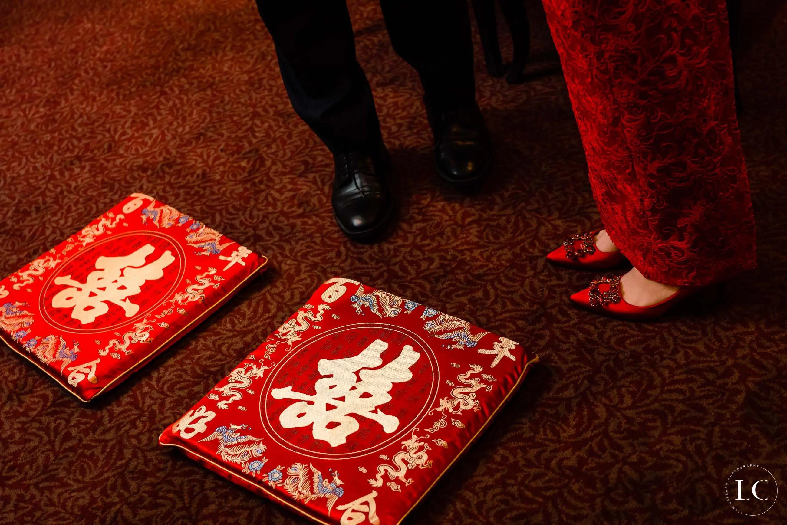 Chinese wedding writing