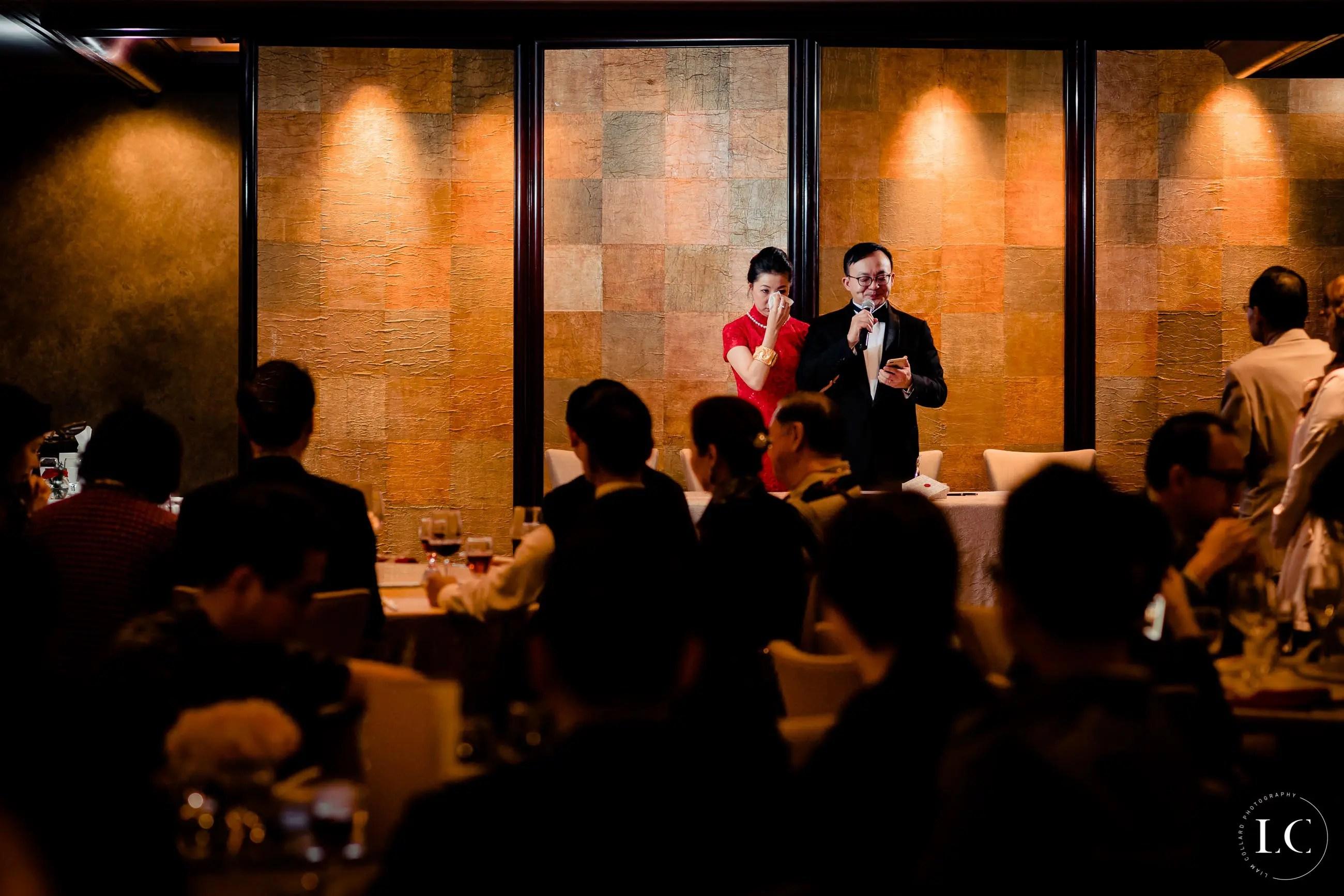 Speeches at a wedding