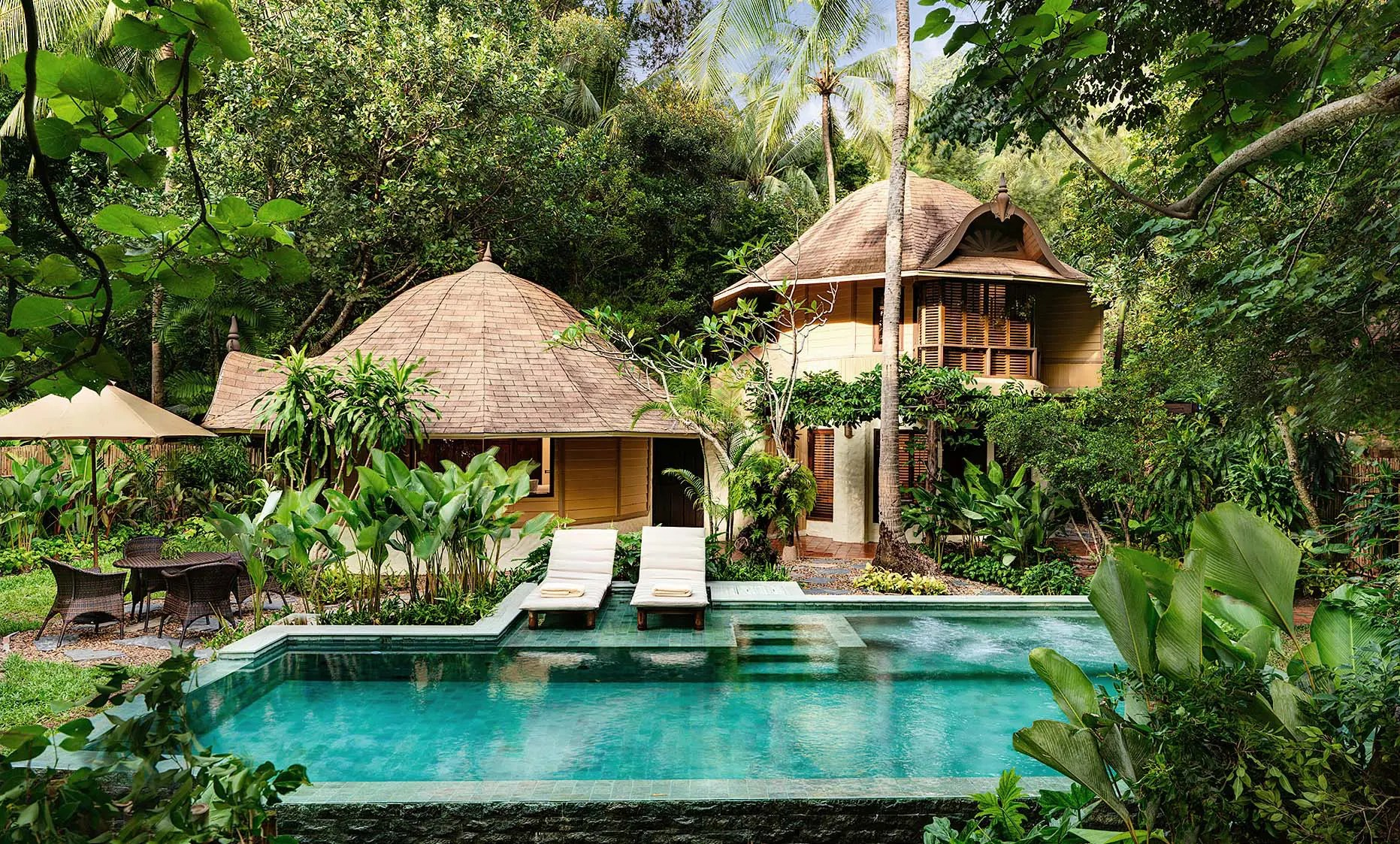 Accommodation and pool view at Rayavadee in Krabi