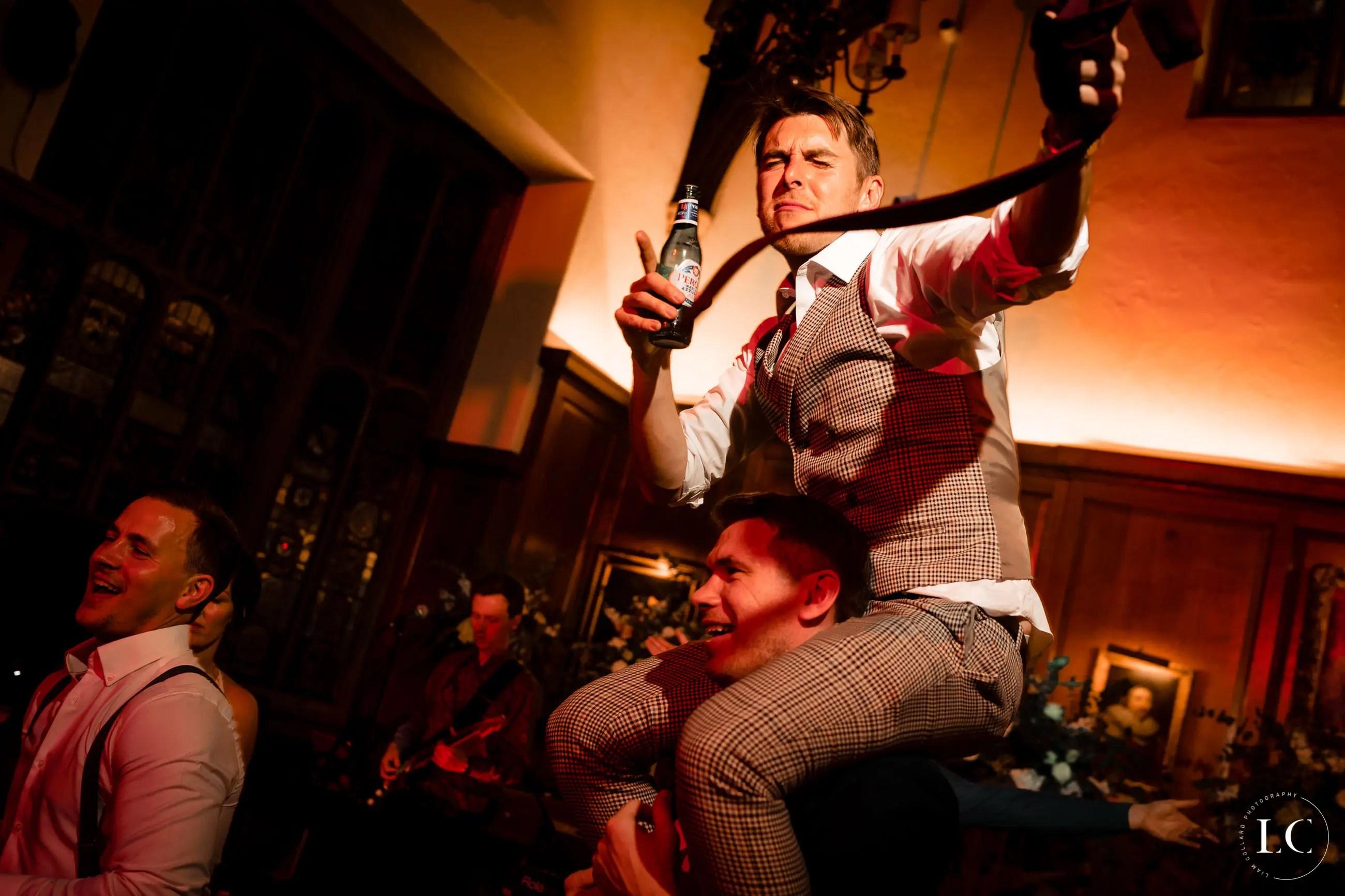 Best man dancing wedding reception