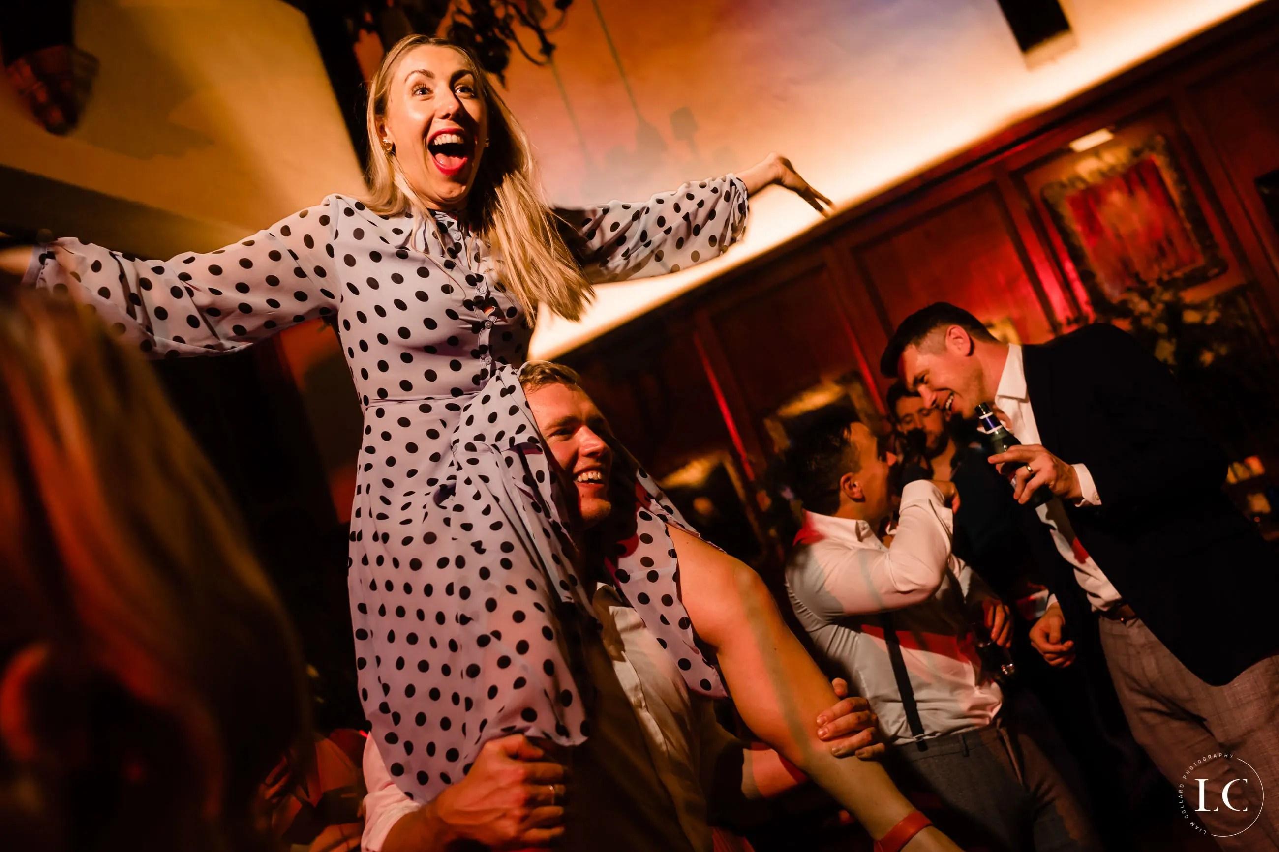 Woman dancing at a wedding