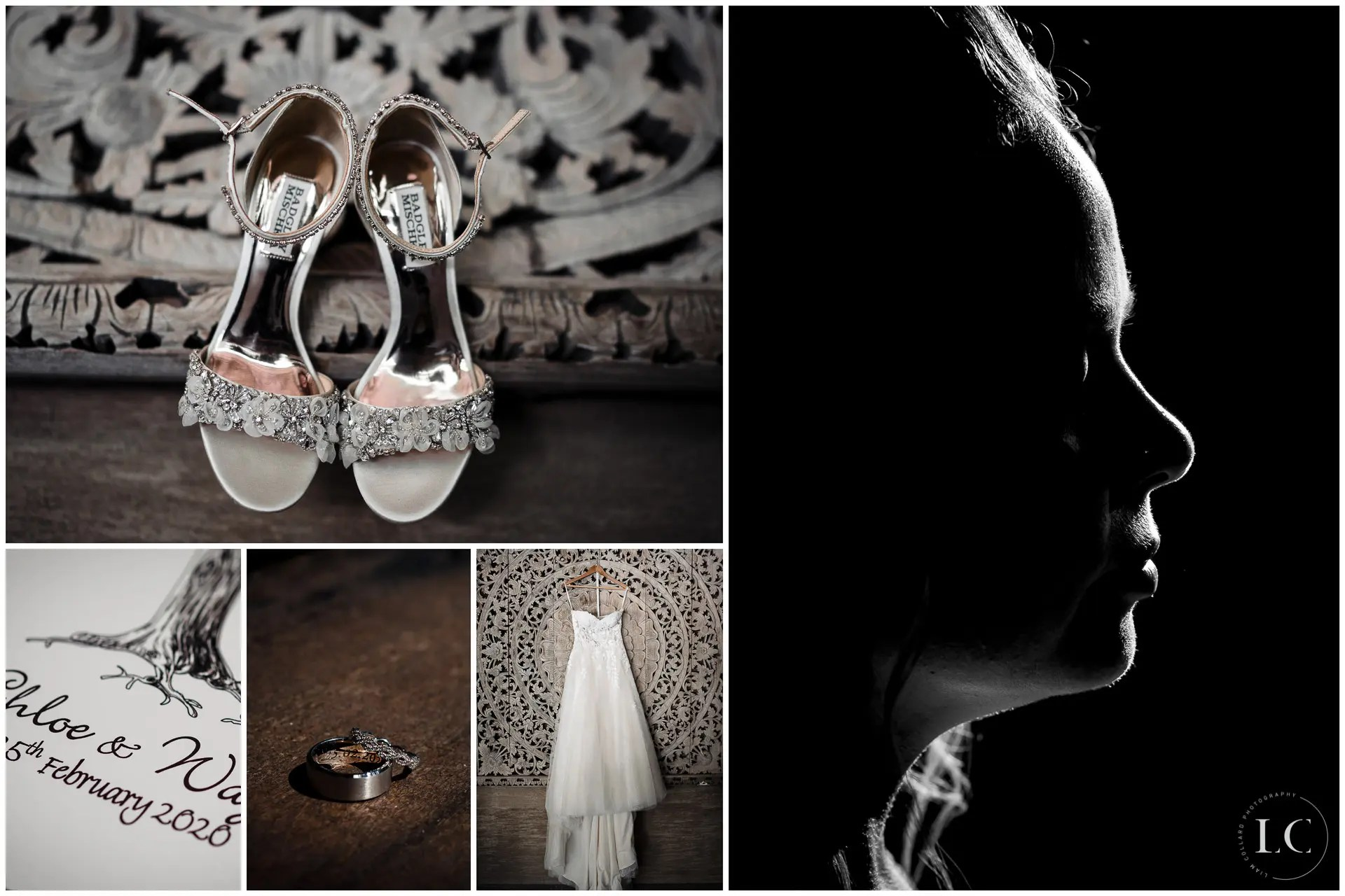 Collage of wedding day