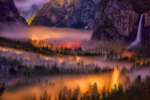Mist in the Valley, Yosemite, California