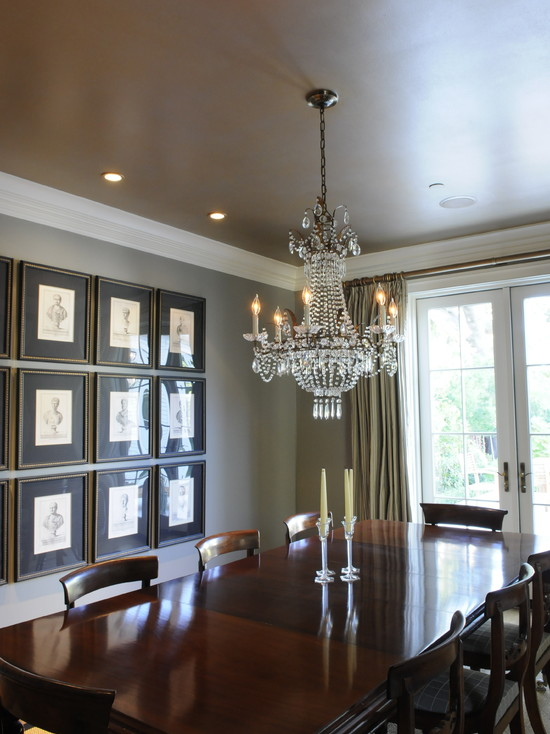 Luxurious Gold And Silver Painted Dining Room Ceiling (San Francisco)