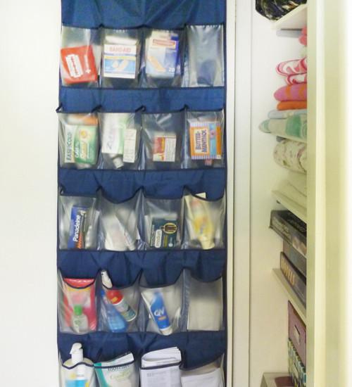 Shoe Hanger As Medicine Cabinet