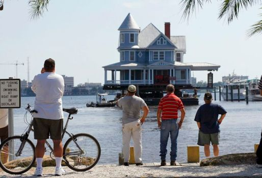 Once floated up Tampa Bay, this home has quite a history behind it!  Image via TampaBay.com