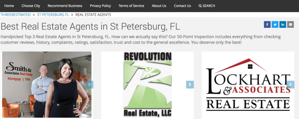 Top Three Realtors in St. Petersburg, Florida