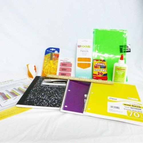 Back to School Supply Bundle Spiral Composition Notebooks Crayons