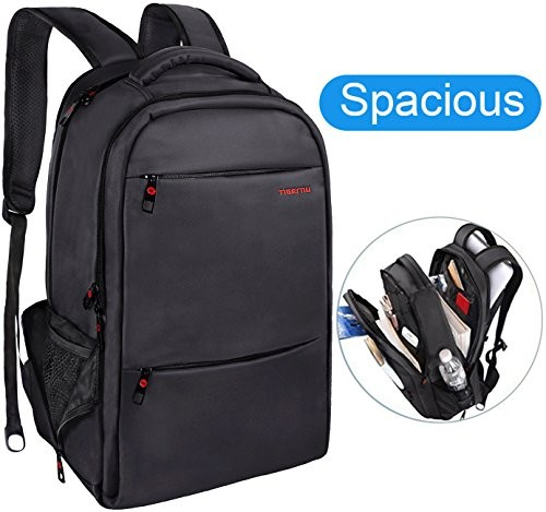 LAPACKER Water Resistant Lightweight Slim Laptop Backpack for Mens Business Anti theft College Backpacks for Laptops fits up to 15.6 inch Computers