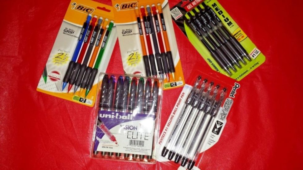 LOT OF NEW PENS & PENCILS, GREAT FOR BACK TO SCHOOL