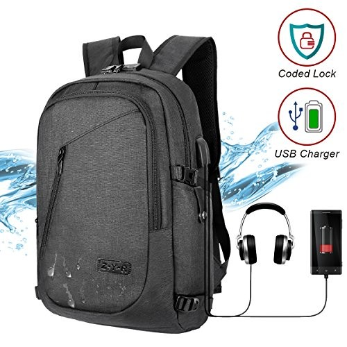 d1bddc0fc Laptop Backpack Business Travel Laptop Backpack College Backpack with USB  Charging Port ...