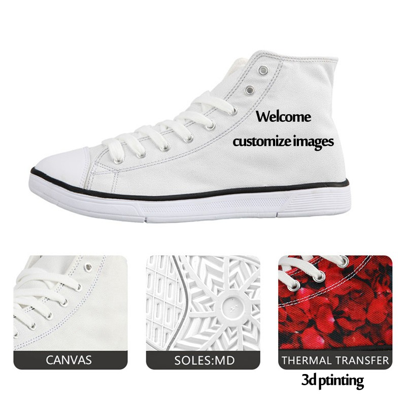 ba8f4de3a1b4 FORUDESIGNS Classic High Top Casual Shoes Woman 3D Eyes Printed Canvas Shoes  for Women Lace-up ...