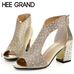 cf6a58d9b41a HEE GRAND 2018 Women's High Heel Sandals Women Summer Shoes Fashion Dancing  Sandals Fish Mouth Toe Sexy Party Wedding Shoes $ ...