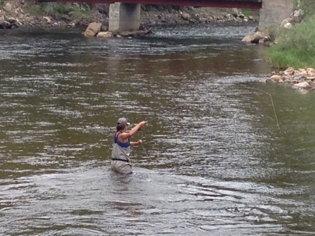Women's only Beginner Fly Fishing Class in Colorado.