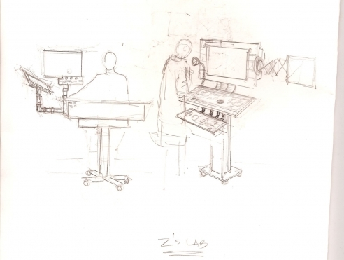 Z's Lab concept sketch by Zeynep Bakkal
