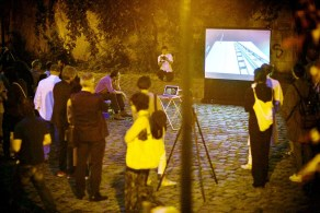 Screening on location, Ruprechtsstiege/Morzinplatz, Vienna, AT, 2014