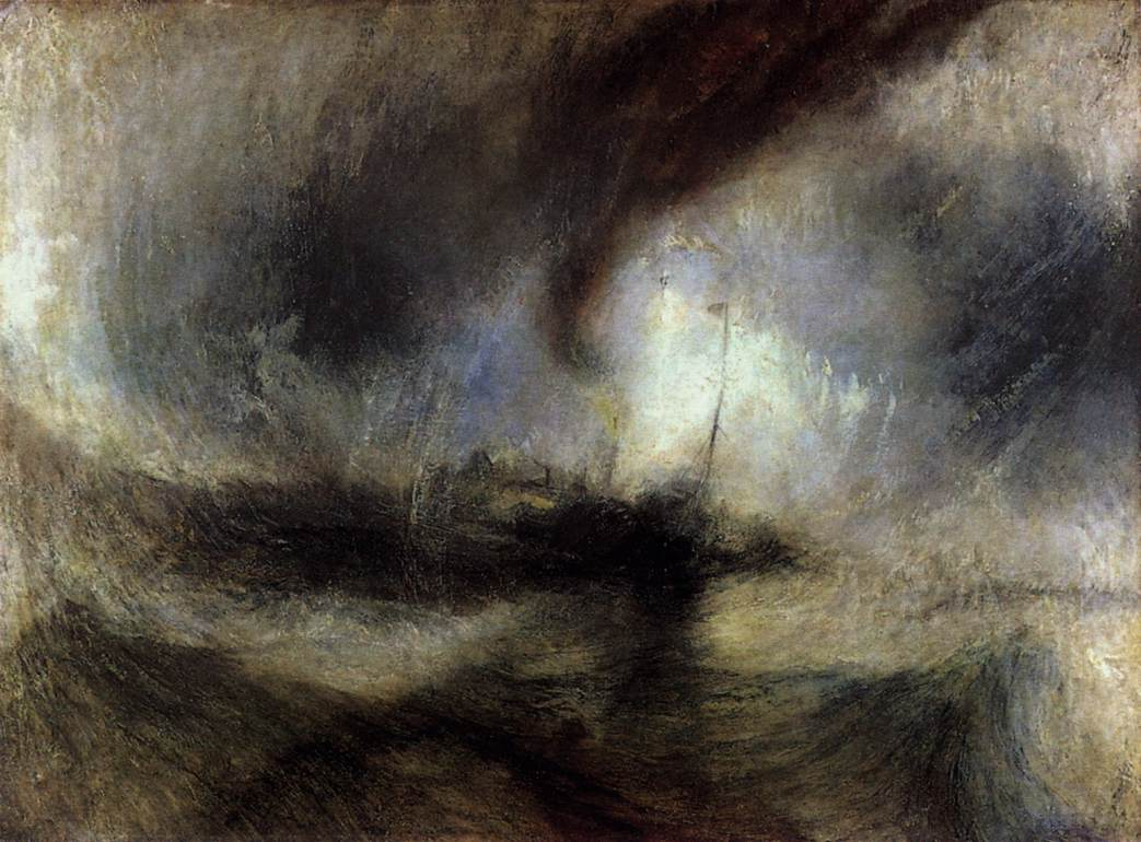 Turner: Snowstorm: Steamboat off a Harbour's Mouth, Picture from www.lib-art.com