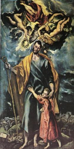 San José con el Niño Jesús, El Greco