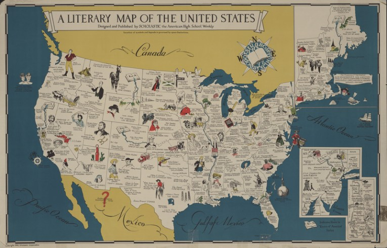 Clark Library Literary Maps   Literature of the United States     Literature of the United States  A Literary Map