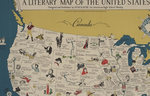 HD Decor Images » Clark Library Literary Maps   Literature of the United States     Literature of the United States