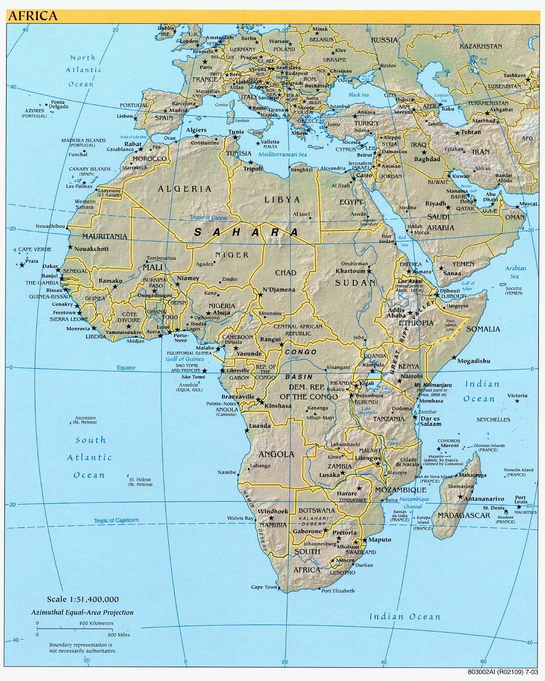 Atlas Mountains Africa Map